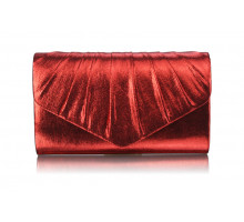 Psaníčko Red Metallic Clutch Bag