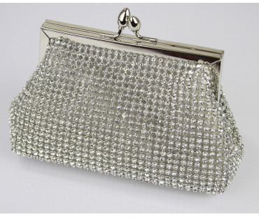 Psaníčko Sparkly Crystal Evening Clutch Bag
