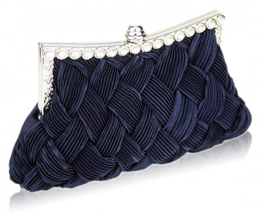 Psaníčko Navy Crystal Evening Clutch Bag - modrá