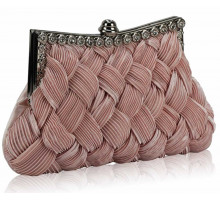 Psaníčko Nude Crystal Evening Clutch Bag - tělová