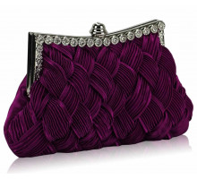 Psaníčko Purple Crystal Evening Clutch Bag - fialové