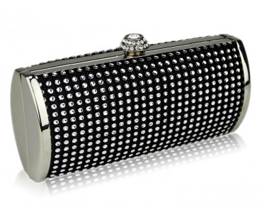 Psaníčko Black Sparkly Crystal Evening Clutch - černé
