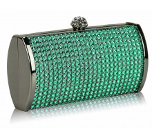 Psaníčko Teal Sparkly Diamante Evening Clutch