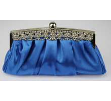 Psaníčko  Royal Blue Crystal Satin Evening Clutch