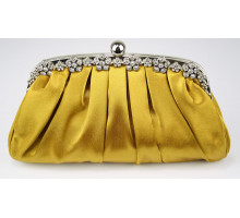 Psaníčko Gold Sparkly Crystal Satin Evening Clutch