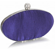 Psaníčko Navy Crystal Satin Evening Clutch