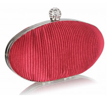 Psaníčko Red Crystal Satin Evening Clutch