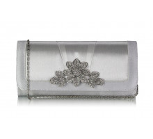Psaníčko Ivory Crystal Flower Evening Clutch Bag