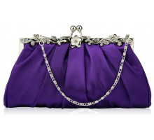 LSE0098 - Purple Crystal Evening Clutch Bag