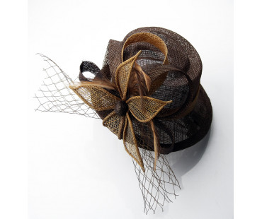 Klip Mesh Hat Feather Fascinator
