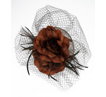 Ozdoba do vlasů Coffee Vintage Style Flower Hairband