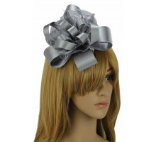 Ozdoba Grey Feather & Flower Fascinator on Comb