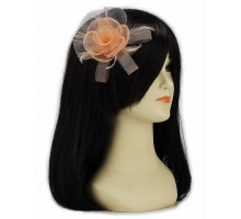 Ozdoba Nude Feather & Mesh Flower Fascinator on Clip