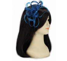 Ozdoba do vlasů Teal Loop & Feather Fascinator on Headband