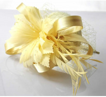 Ozdoba do vlasů Ivory Feather & Flower Headband Fascinator