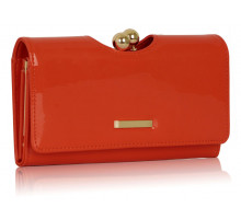 Peněženka Orange Patent Kisslock Clutch Wallet