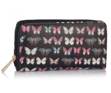 Peněženka Black Butterfly Design Purse/Wallet