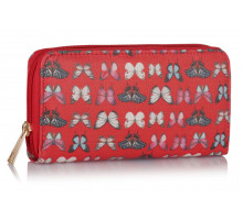 Peněženka Red Butterfly Design Purse/Wallet